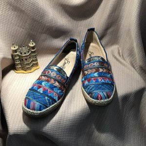 Beacon Terri slip on flats blue stitched , sz 10